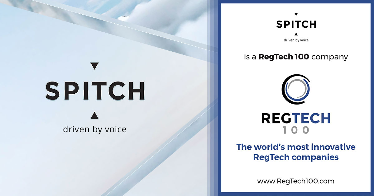 Spitch included in Global RegTech Review & The RegTech 100 List