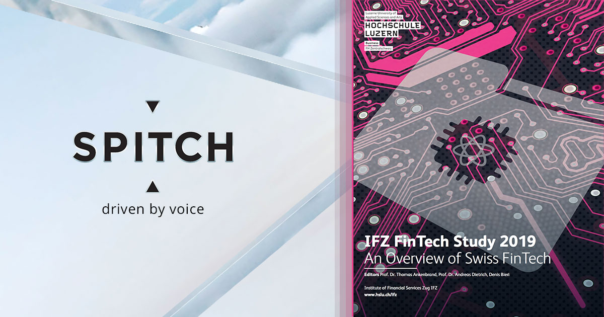 Spitch presented in the annual study of the IFZ FinTech Study 2019