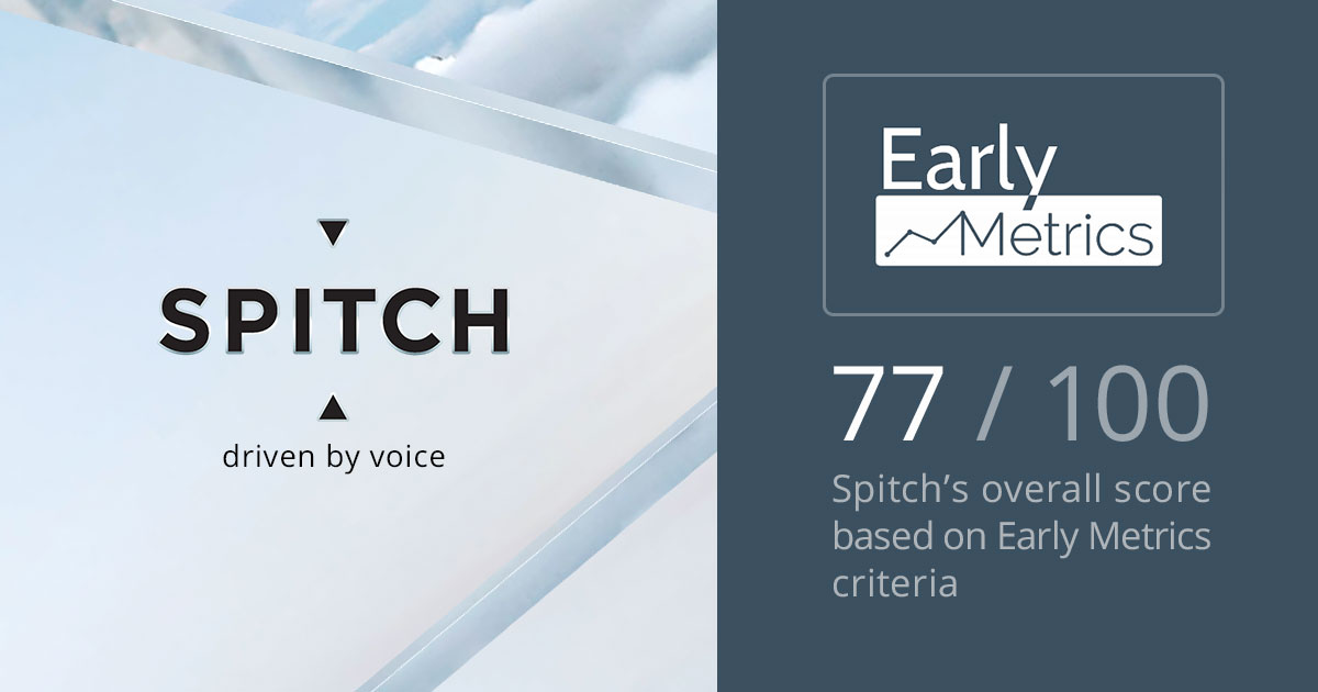 Spitch Receives High Early Metrics Rating
