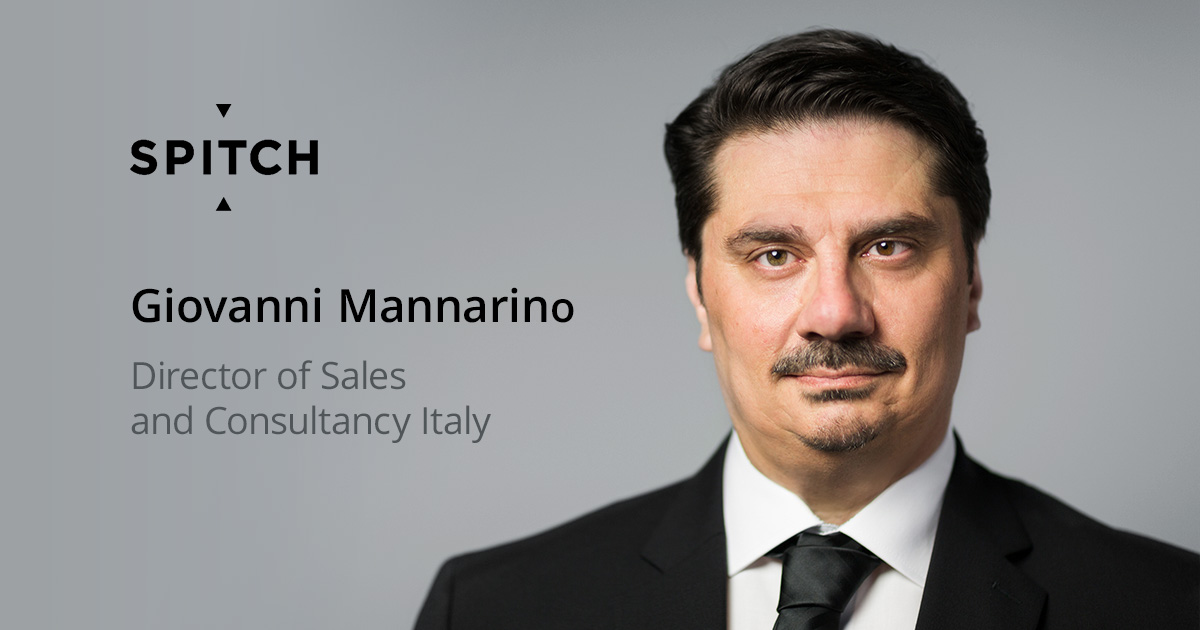 Giovanni Mannarino Joins the Spitch Team as Director of Sales and Consultancy Italy
