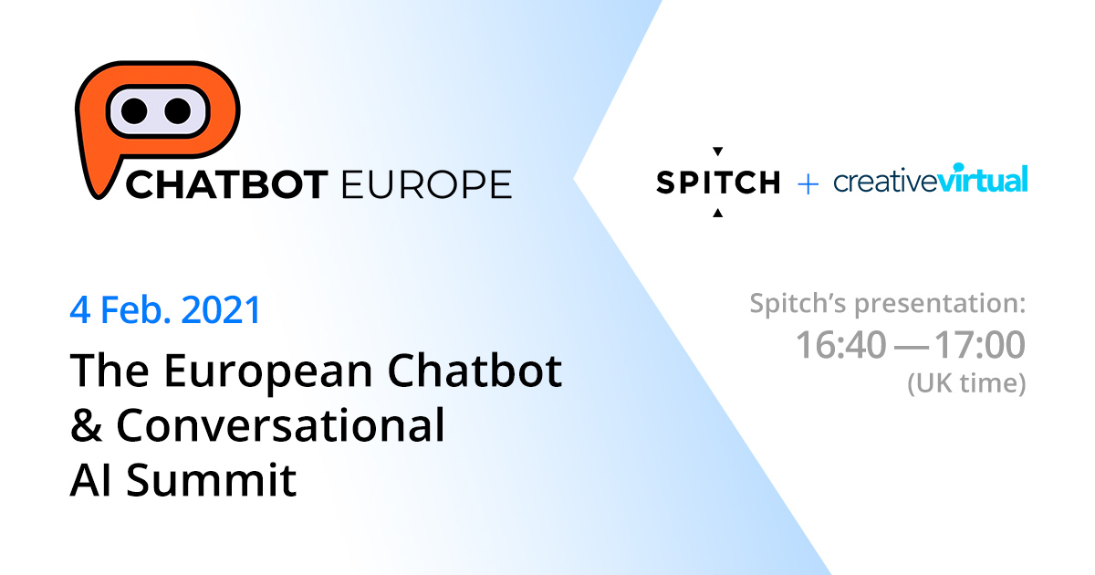 Learn more about omnichannel engagement with voice and chatbot at The European Chatbot & Conversational AI Summit