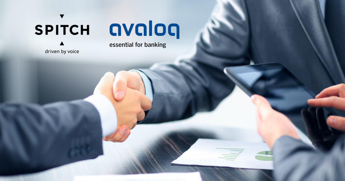 Avaloq customers now have access to voice and speech recognition solutions from Spitch