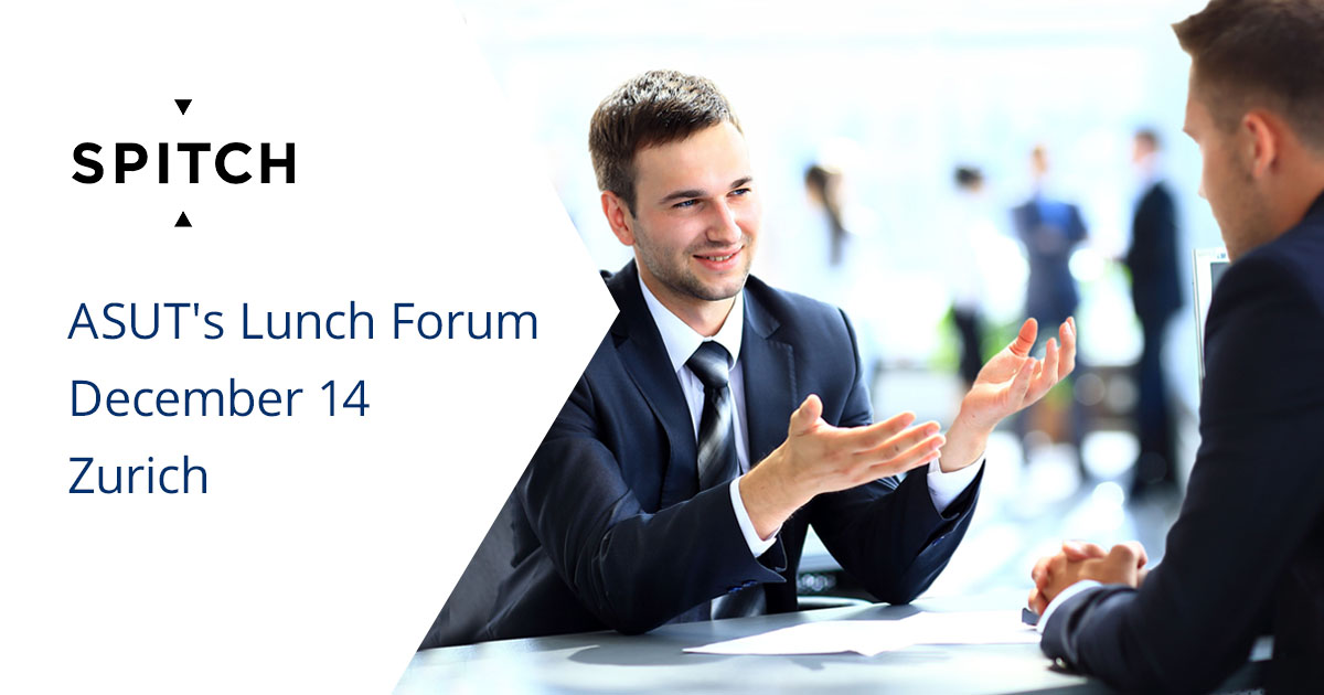 "Spitch at the Lunch Forum ""Why write when I can speak?"" will tell how to apply voice solutions in business"
