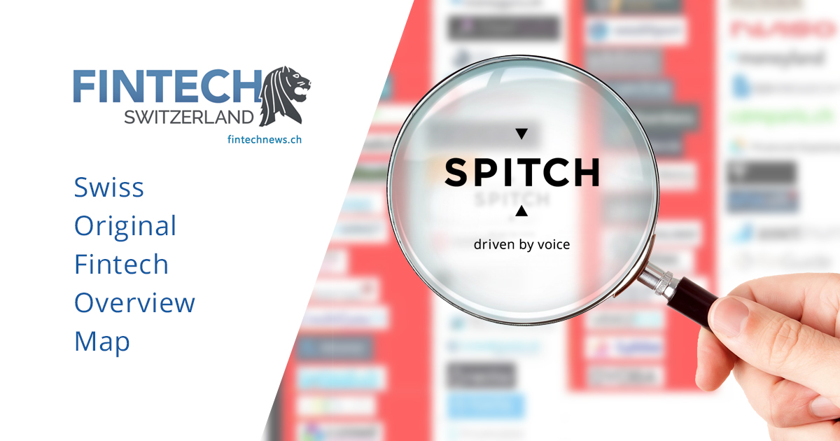 Spitch included in the Swiss Original Fintech Overview Map