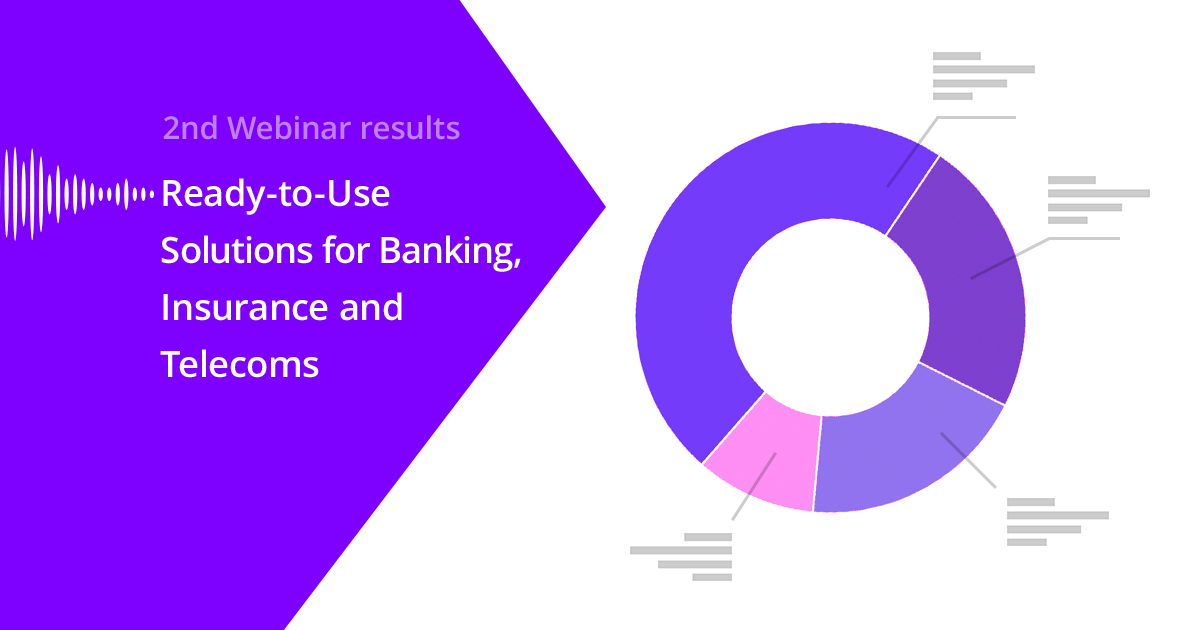 Spitch held the 2nd Webinar: Ready-to-Use Solutions for Banking, Insurance and Telecoms