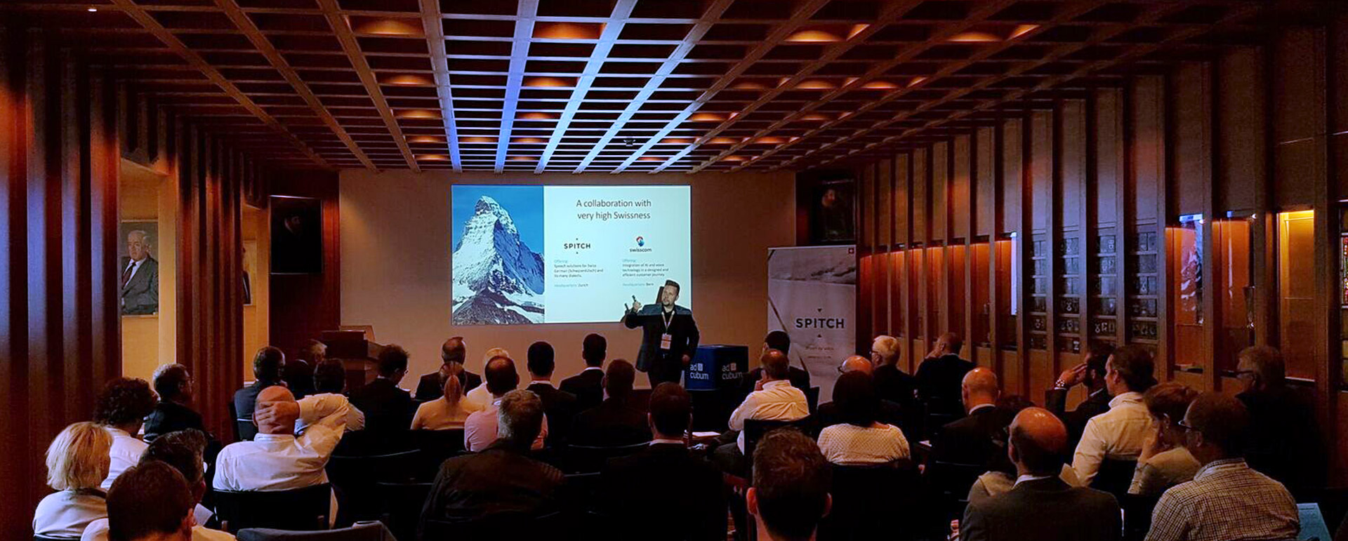 Spitch AG with the support of Swisscom, Adcubum and ti&m held the event «Speech technologies for Insurance: exceptional customer service from the first call»