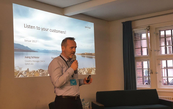 Spitch presented at Deutsche Telekoms AI Bootcamp as part of their eLiza initiative